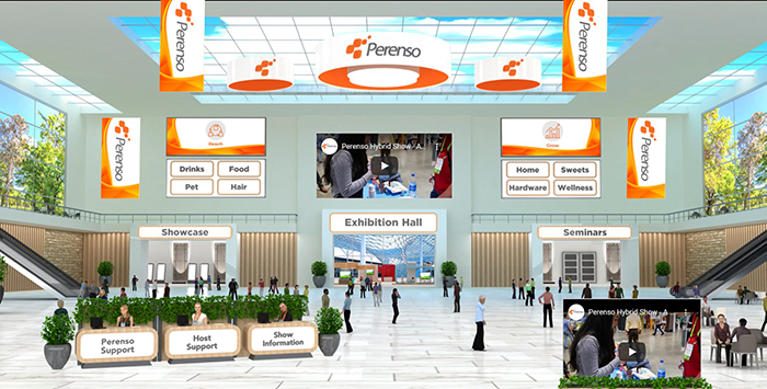 Customize your virtual trade show 3D lobby