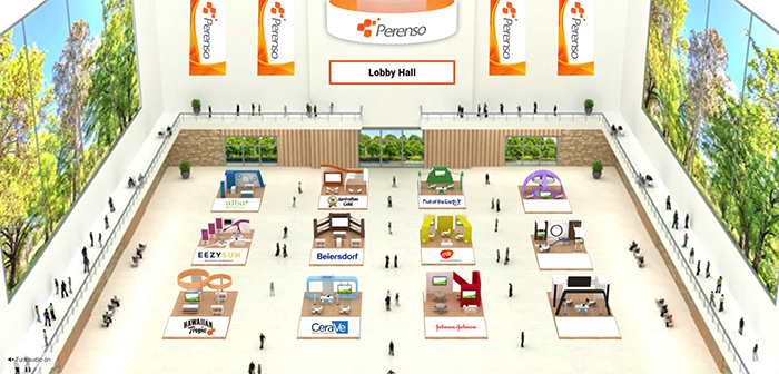 Customize your virtual trade show category room and webinar auditorium.