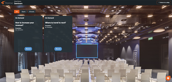Live and on-demand webinars allow you to share information with your customers throughout the virtual event and receive analytics with attendee tracking. With our Zoom integration, it is even easier to host webinars and trainings.